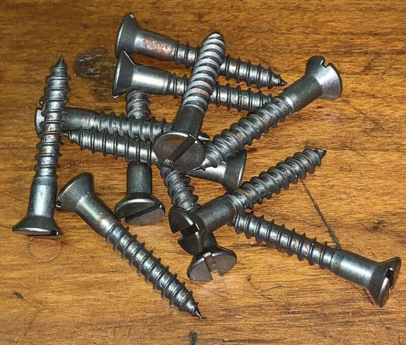 "Wood Screws Flat Head Slotted Plain Steel #12 X 1-1/2"" WS12112"