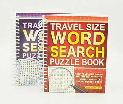 A5 Spiral Bound Travel Size Word Search Puzzle Books - Pack of 1