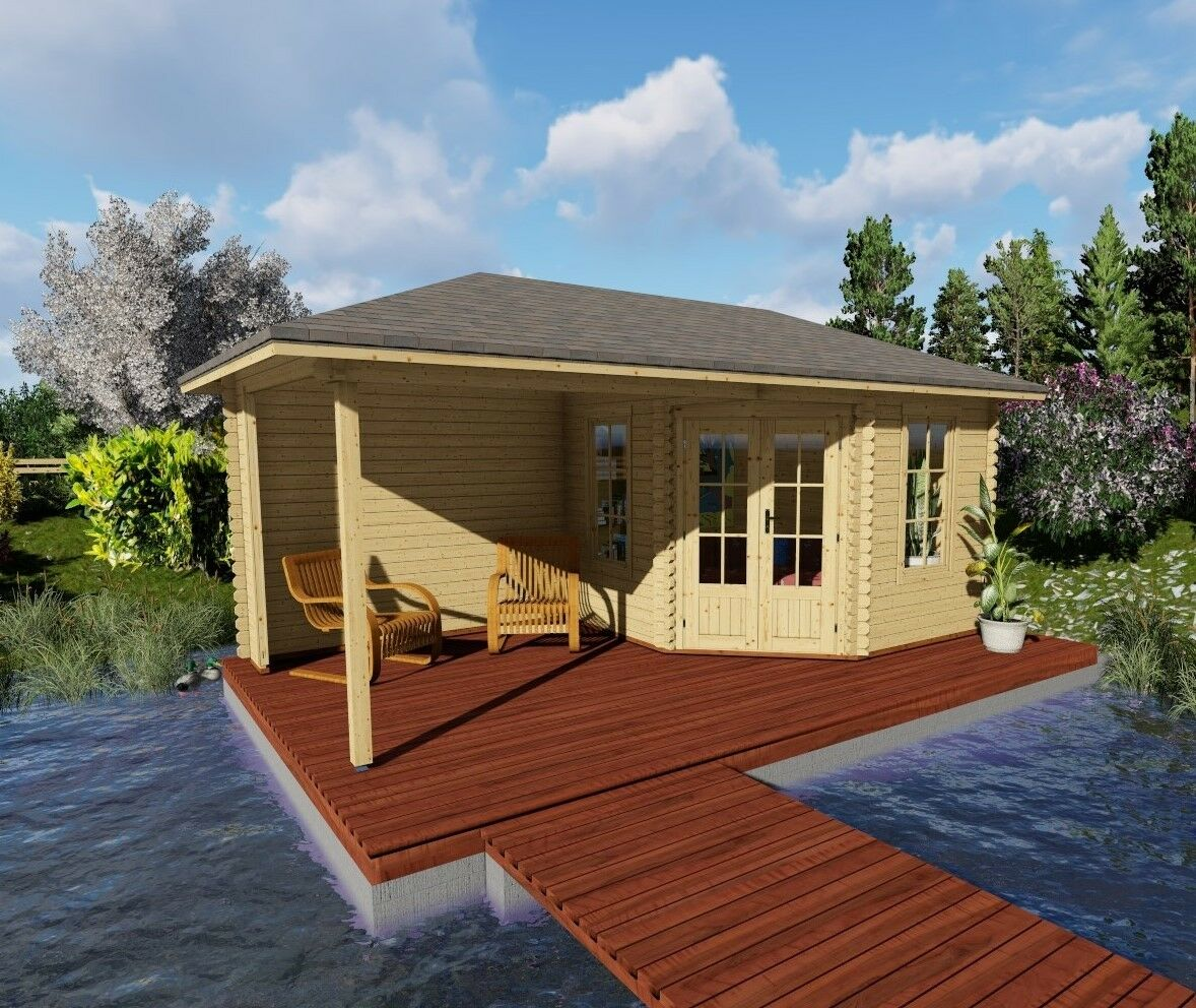 5 eck gartenhaus modern mit seitendach. Black Bedroom Furniture Sets. Home Design Ideas
