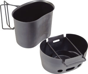 Stainless Steel Army Cooking Unit Camping Canteen Cup Mug Set Water Bottle