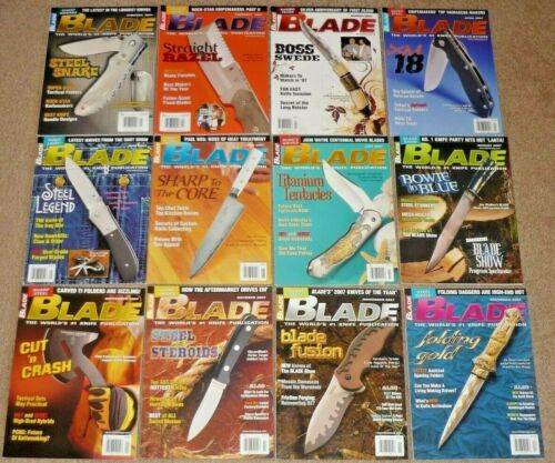 12 BLADE Magazines Knives Complete Year 2007 Vol. 34 1-12 Uncirculated NOS RAMBO