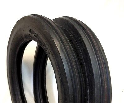 Two 400x19 4.00-19 400-19 Three Rib Ford 2n 9n Tractor Tires Tubes