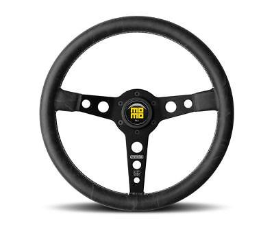 - MOMO Prototipo Heritage 350mm Steering Wheel Distressed Black Leather PRH35BK2B