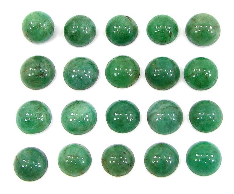 55.20 Ct Natural Green Aventurine Loose Gemstone Cabochon Lot of 20 Pcs - 29414