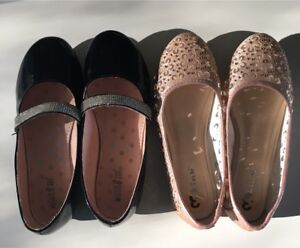 Two pairs of sparkly shoes Size 3 $10 for both