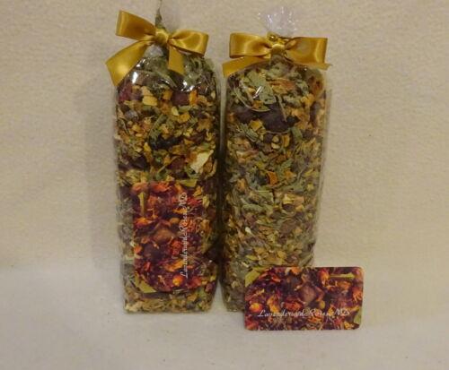 2pk Potpourri Rose Hips-Orange Peel-Verbena-All Spice-48ozs NO FILLER-Rare