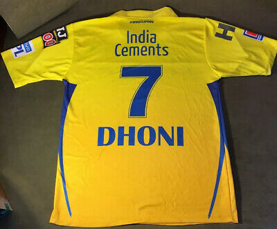Chennai Super Kings (CSK) - Official Dhoni Player Jersey 2019 - Size 44