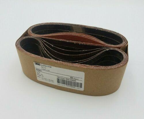 "50 PC 3M 80551 777F Fabri-Lok Cloth Sanding Belts Grit 60 1/2"" x 18"" YF Weight"