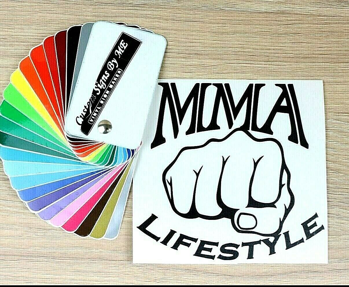 BOXER Fight Sticker Vinyl Decal Adhesive Wall Window Bumper Tailgate Laptop BLAC