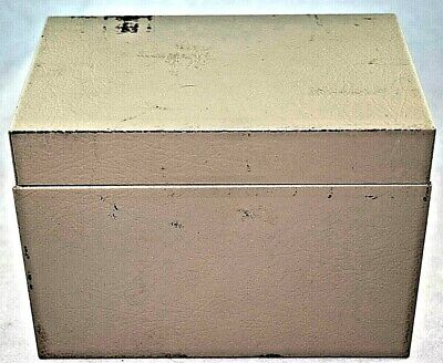 Buddy Products Vintage Metal File Box With Alpha Dividers Portable File Holder