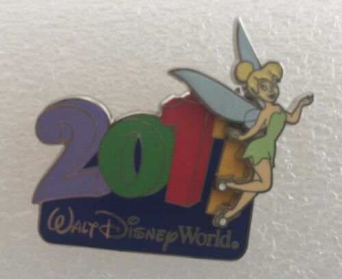 DISNEY TRADING PIN TINKER BELL IN FRONT OF WDW YEAR 2011 DOUBLE LAYER PIN