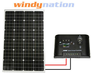 100-W-Watt-100W-Monocrystalline-PV-Solar-Panel-and-Charge-Controller-12V-RV-Boat