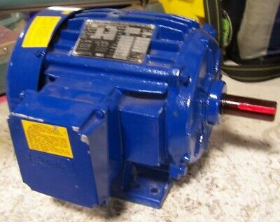 New Elektrim 3 Hp Electric Ac Motor 230460 Vac 1745 Rpm 182t Frame 3 Phase
