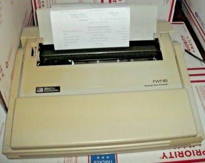 Smith Corona Personal Word Processor Pwp80 Typewriter Lcd Screen Floppy Drive