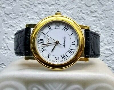 """""""LOOK"""" Gucci Vintage Watch Gold Plated 7200 AUTO Coin Watch K"""