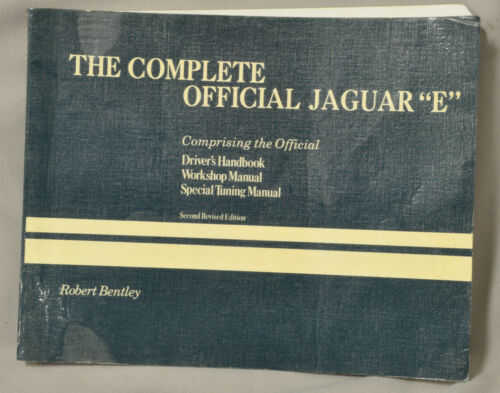 Jaguar XKE Bemtley handbook, workshop manual and special tuning guide book