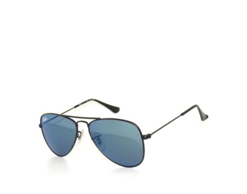 RAY BAN kids sunglasses RJ 9506S MATTE BLACK/BLUE MIRROR 201/55 JR 9506