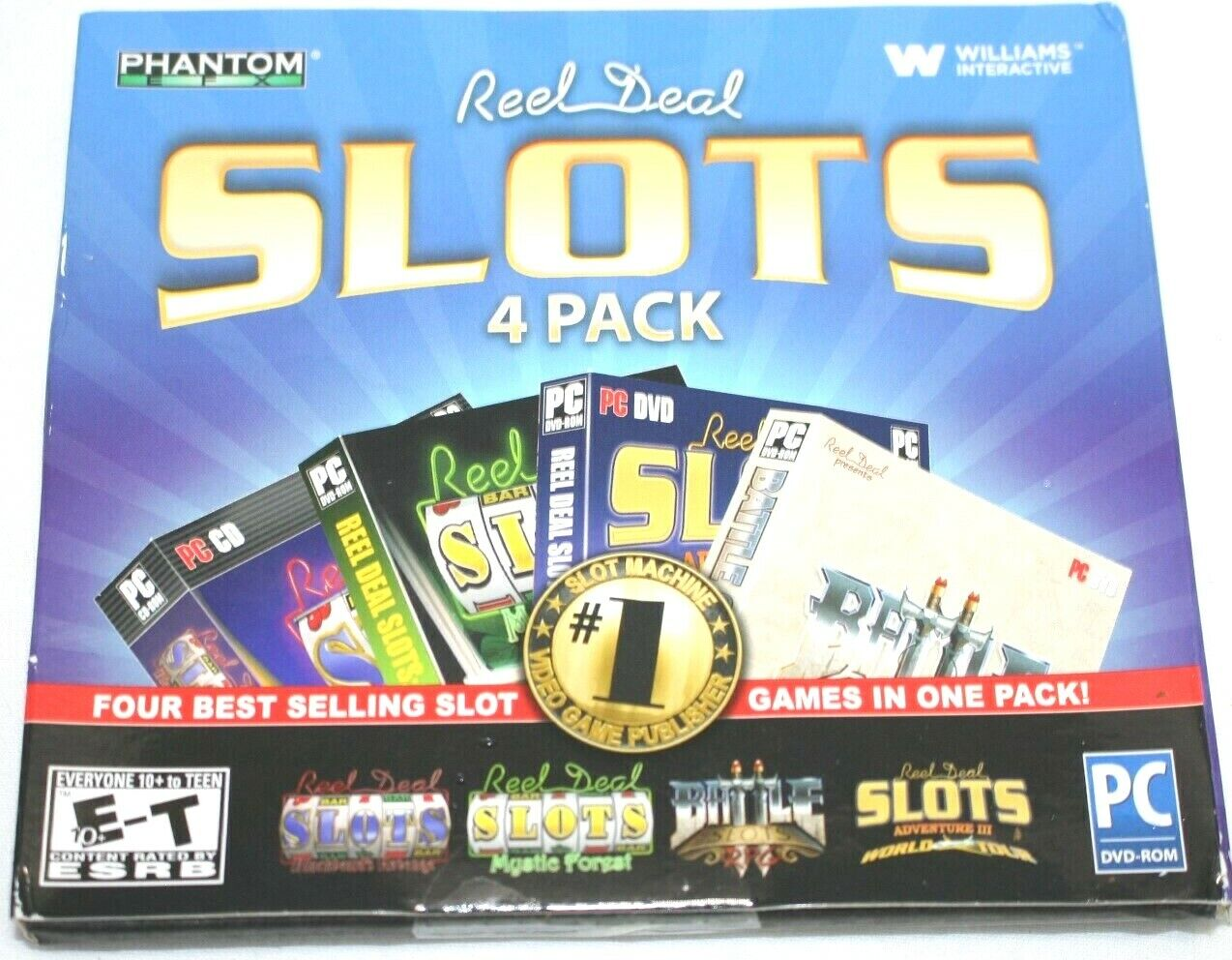 Reel Deal Slots 4 Pack PC Games Windows 10 8 7 XP Computer Slots Free Shipping