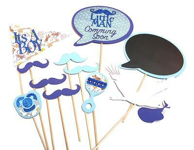 Photo Booth Props Parties Props Baby Shower Its A Boy Set Custom Colour  - Custom Photo Booth Props