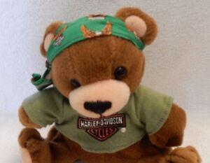 Harley Davidson Teddy Bear w/ Bandana Plush 1998 EXCELLENT CONDITION LOOKS GREAT