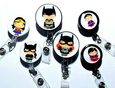 Justice League Badge Reel Id Holder Or Stethoscope Id Tag - Dc Comics - Superman