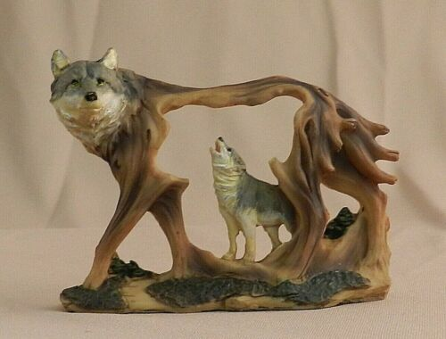 Wolf in Wolf Miniature Carving - New