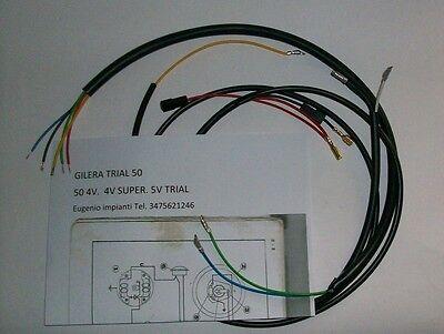 Sistema Eléctrico Eléctrica Alambrado Gilera Trial 50 Con Esquema Eléctrico