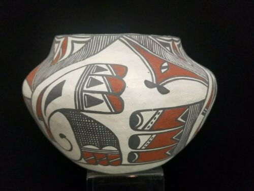 """RARE Antique Laguna Pottery LARGE Bowl signed M Garcia 7 1/2"""" wide x 5 3/4"""" tall"""