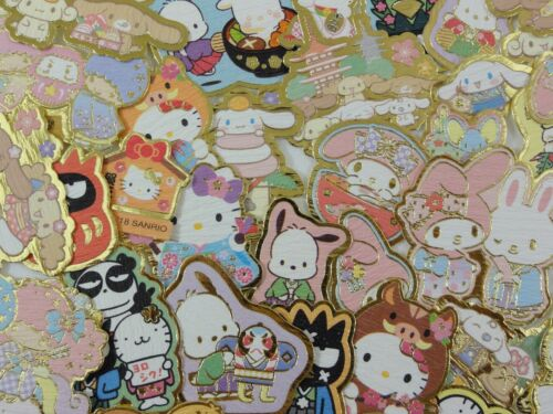 60 Sanrio Little Twin Stars Hello Kitty My Melody Pochacco Badtz stickers Lot