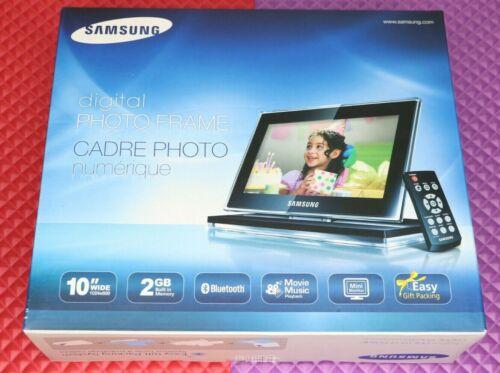 "Samsung Digital Photo Frame 10"" Wide 2 GB Bluetooth Movie Music Mini Monitor"