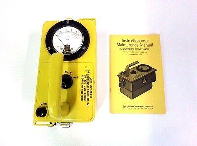 Victoreen CDV-717 No.1 Geiger Counter Radiological Survey Meter w/ Manual