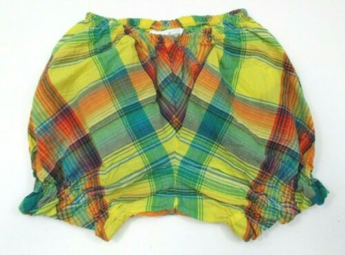 INFANT GIRLS RALPH LAUREN RED & GREEN PLAID DIAPER COVER BLOOMERS SIZE 6 MONTHS