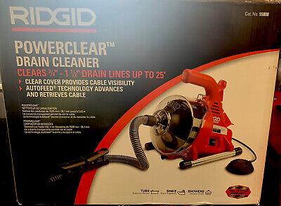 New Ridgid Powerclear Drain Cleaning Machine 55808