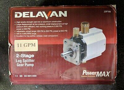 Delavan 11gpm 2-stage Log Splitter Gear Pump 2sp106 Brand New