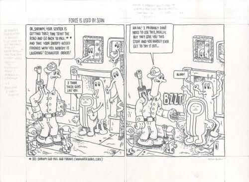 MARC BELL Stroppy p32 (Top Tier) ORIGINAL COMIC ART Shrimpy And Paul