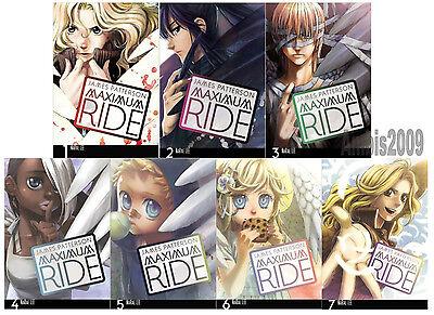 Maximum Ride English Manga Collection Series Set 1-7 by James Patterson! New!