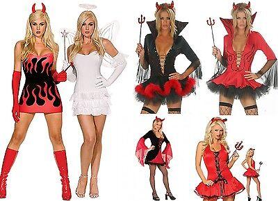 LADIES DEVIL HALLOWEEN COSTUME SIZE 6-18 NEXT DAY DELIVERY