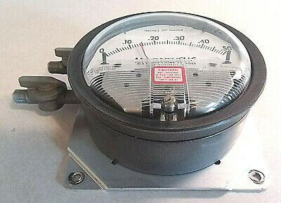 Dwyer Magnehelic 2000-0c 0-.5 Inches Of Water 4 Gauge 18 Npt 15 Psig Max