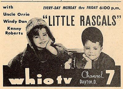 1961 Whio Tv Ad Little Rascals Uncle Orrie Windy Dan Kenny Roberts Dayton Ohio