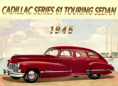 1946 Cadillac Series 61, 5 Passenger Touring Sedan, Refrigerator Magnet, 40 MIL
