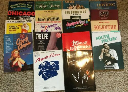 Songbooks for Musicals Lot of 18 (Chorus Line~Chicago~Lion King+) - TPB VGC