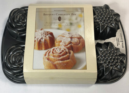 Williams Sonoma - Nordic Ware Floral Cakelette Flower Bouquet Pan - Dead Stock!