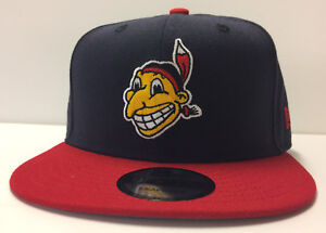 Cleveland Indians New Era 9FIFTY MLB Snapback Hat Cooperstown Chief Wahoo  Cap b8961e71c35