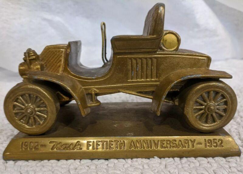 "Nash Rambler 1902, 50th Anniversary Gold Replica 1952, 6.5"" x 3.75"" x 4"", 2 lbs."