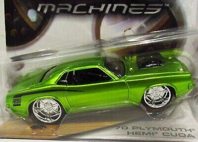 Hot Wheels 70 1970 Plymouth HEMI Cuda G Machines Mopar Collectible Car Met Green