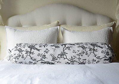 Bella Notte Bird Toile Linen Down Pillow 9