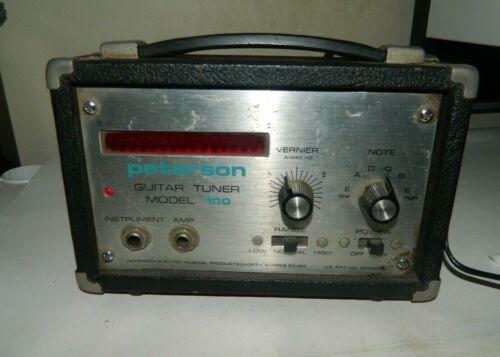 Peterson Model 100 Strobe Tuner Vintage guitar/bass