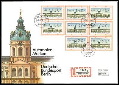 BERLIN ATM VS3 VERSANDSTELLEN-SATZ SCHMUCK-FDC MICHEL NICHT BEWERTET!! u33