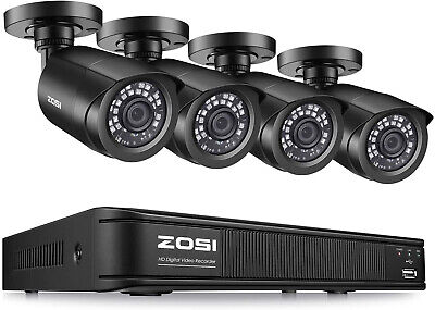 ZOSI H.265+ 8 Channel 1080p Home Security Camera System,4in1