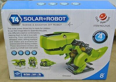 NEW T4 Solar Robot Dinosaur Drilling Machine Science Insect 8+ Kit